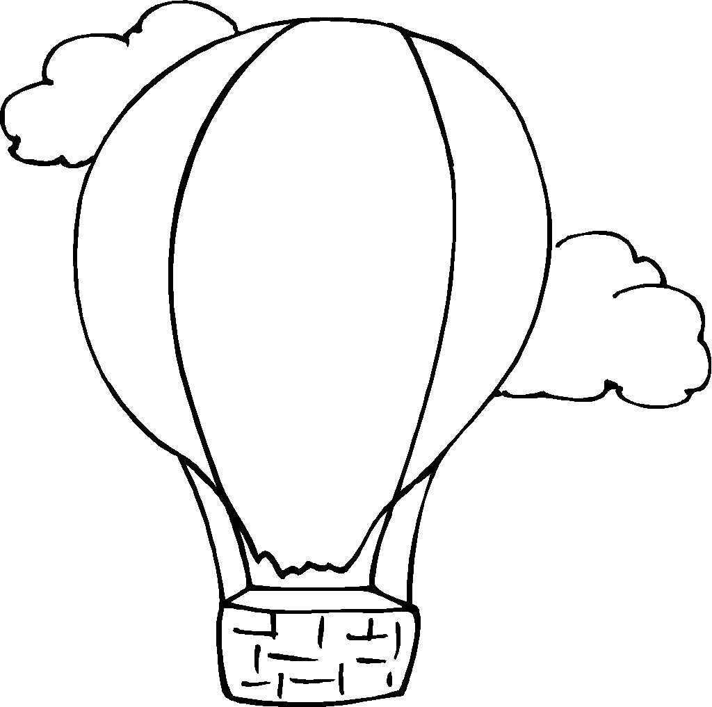 1024x1017 Hot Air Balloon Clipart Coloring Page