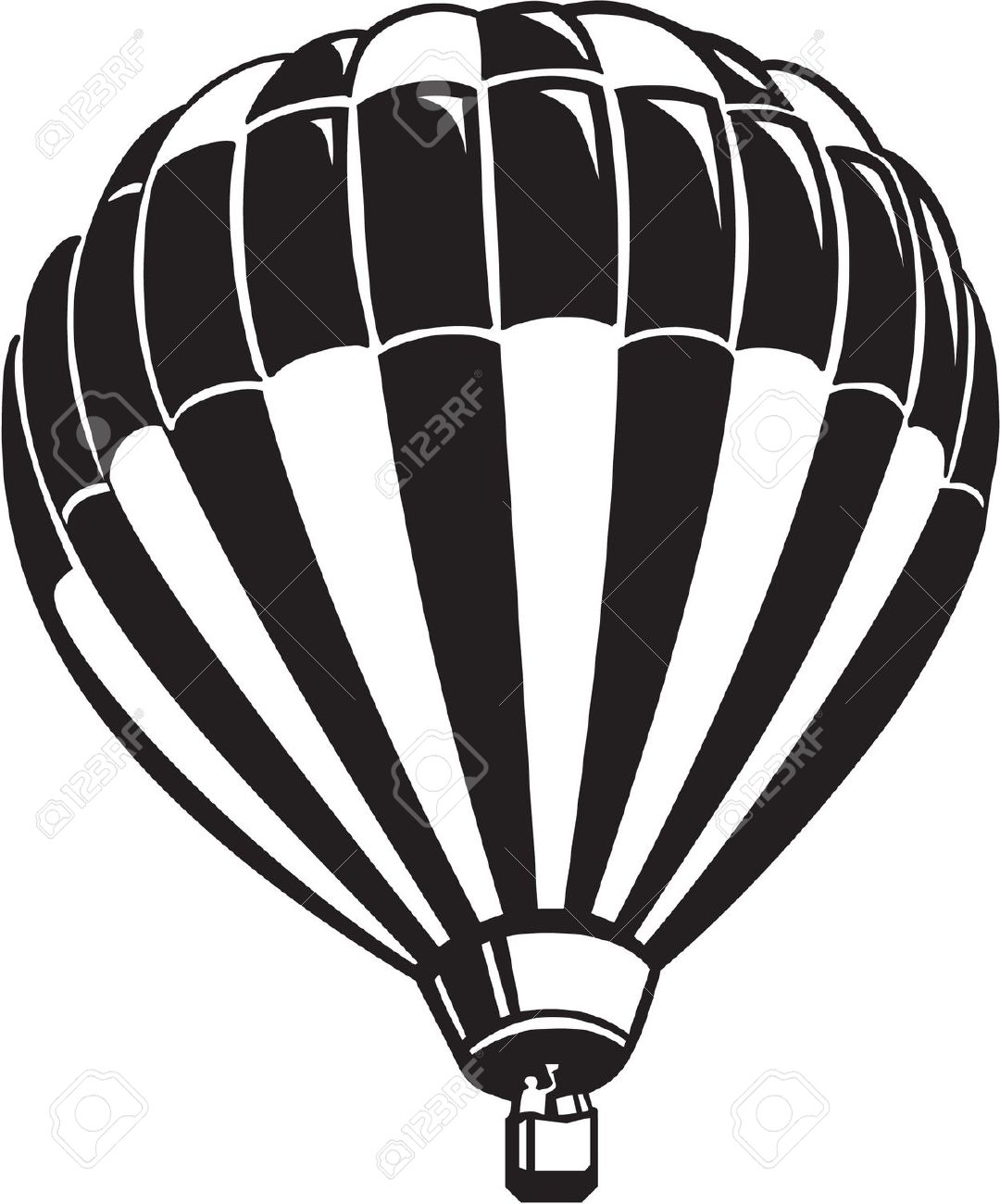 1080x1300 Hot Air Balloon Black White Aerial Balloon Clipart Black
