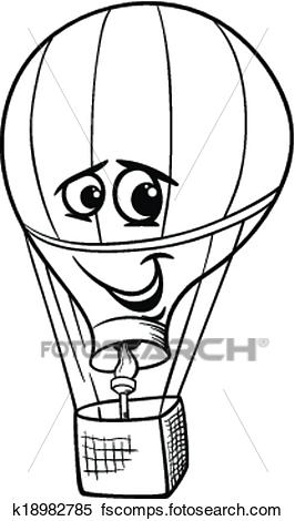 266x470 Clipart Of Hot Air Balloon Coloring Page K18982785