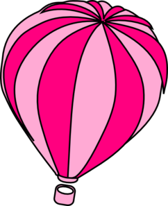 242x297 Hot Air Balloon Grey Clip Art