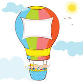 170x170 Hot Air Balloon Illustration Clip Art