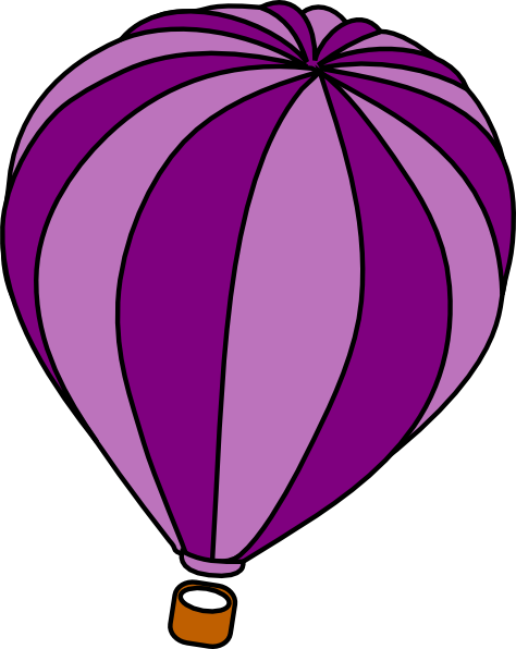 474x596 Hot Air Balloon Purple Vector