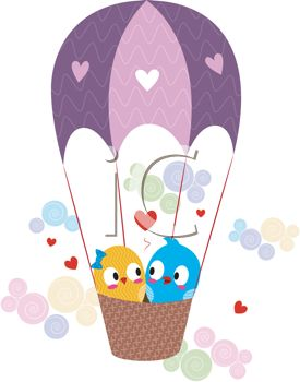 275x350 Lovebirds In A Hot Air Balloon