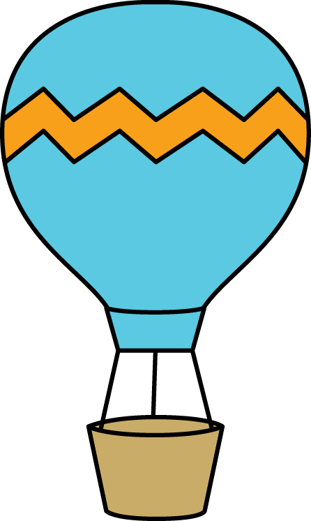 446x747 Blue And Orange Hot Air Balloon Clip Art