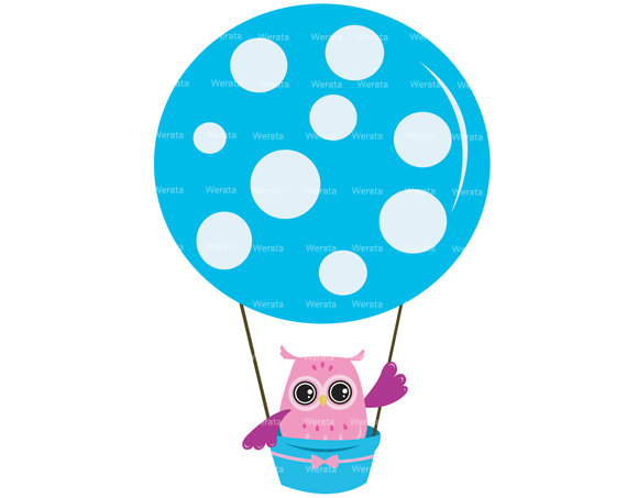 570x453 Owl Balloons Clipart Clip Art Hot Air Balloon Invitation Birthday