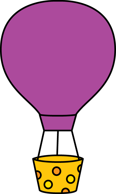446x747 Purple Hot Air Balloon Clip Art
