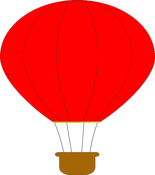 528x595 Red Hot Air Balloon Clip Art