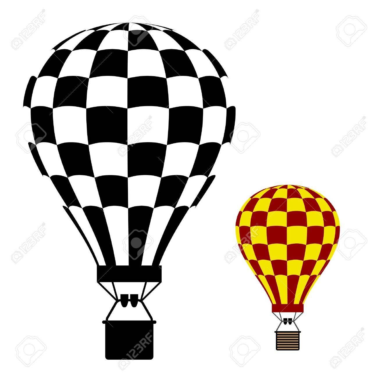 1300x1300 Hot Air Balloon Black Symbol Royalty Free Cliparts, Vectors,