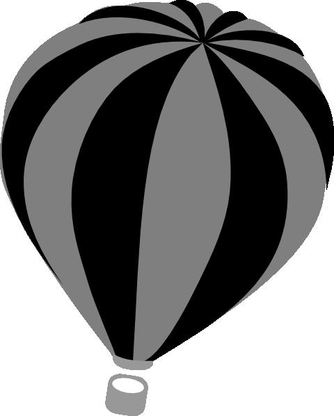 480x598 Hot Air Balloon Grey Clip Art