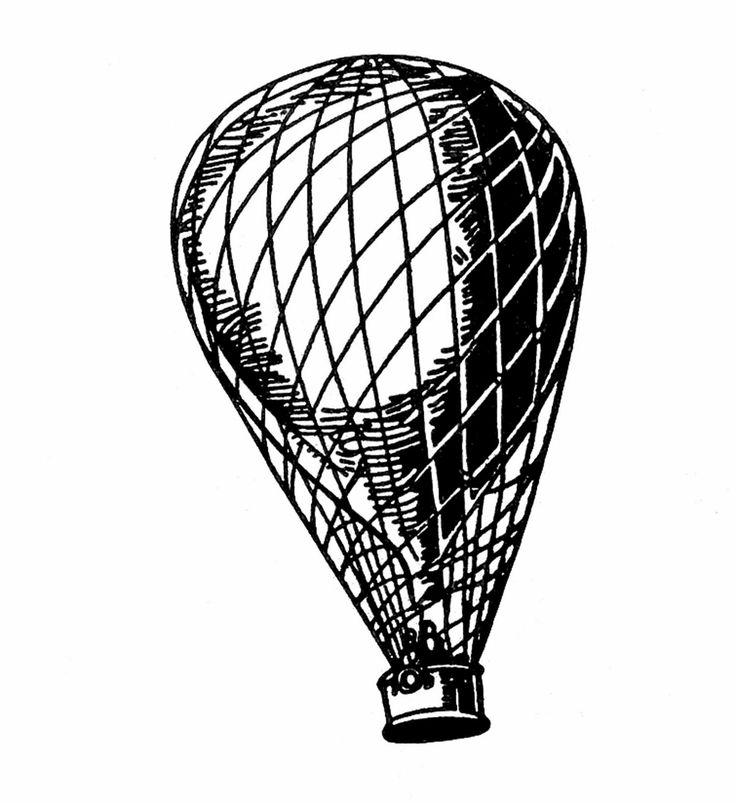 736x803 Hot Air Balloon Black And White Hot Air Balloon Clipart Free