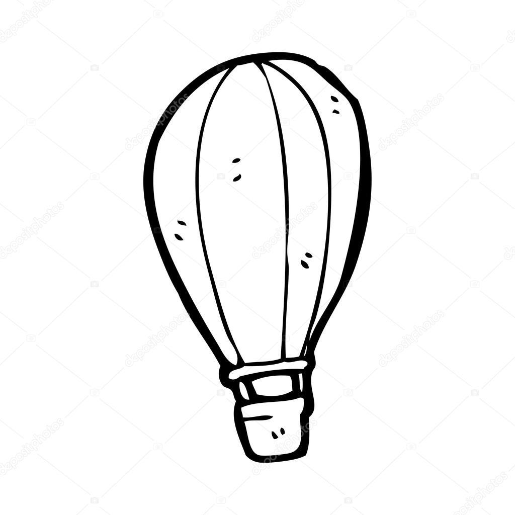1024x1024 Hot Air Balloon Cartoon Stock Vector Lineartestpilot