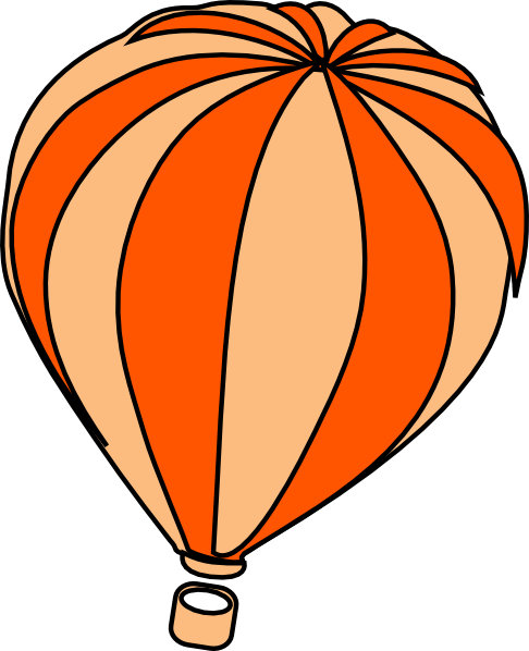 486x598 Hot Air Balloon Clipart Black And White Free 3