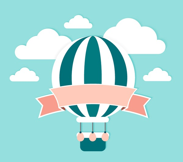 600x532 Fresh Hot Air Balloon Ribbon Clip Art Vector Graphics My Free