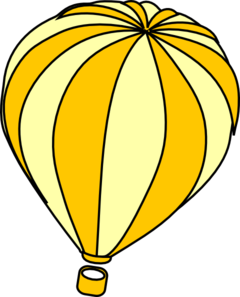 240x297 Hot Air Balloon Grey Clip Art