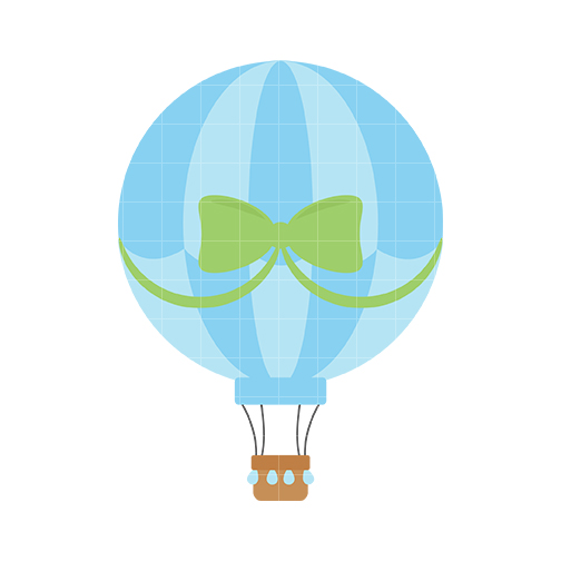 504x504 Hot Air Balloon Clipart Blue