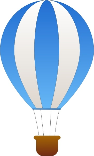 364x600 Hot Air Balloon Clipart Vector