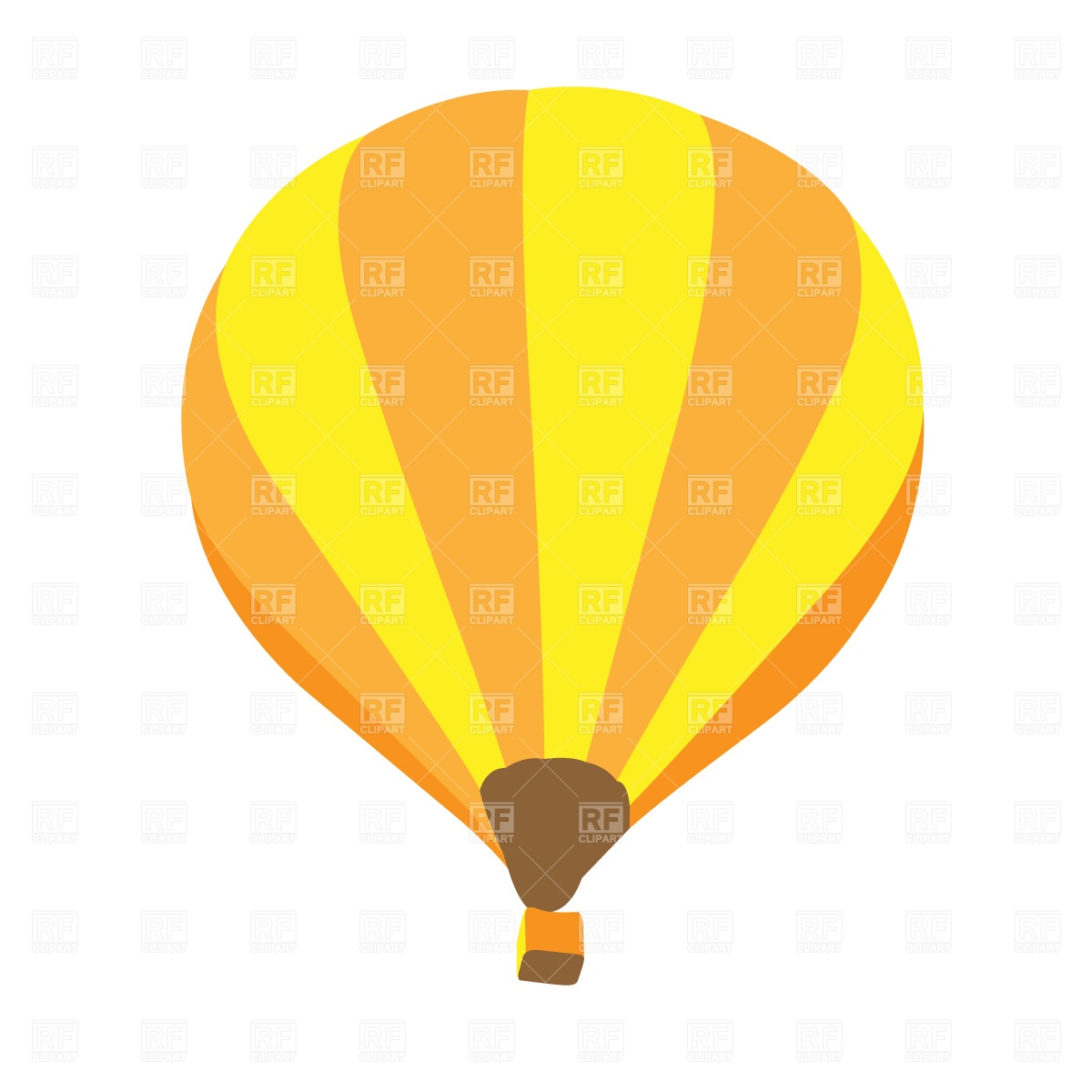 1200x1200 Hot Air Balloon Free Vector Clip Art Image
