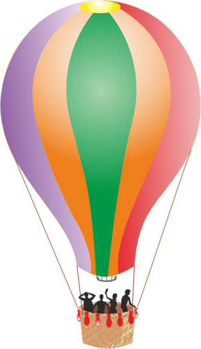 289x500 Hot Air Balloon With People Public Domain Vectors