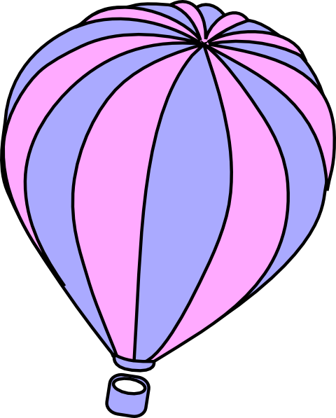 480x597 Lavender And Pink Hot Air Balloon Clip Art