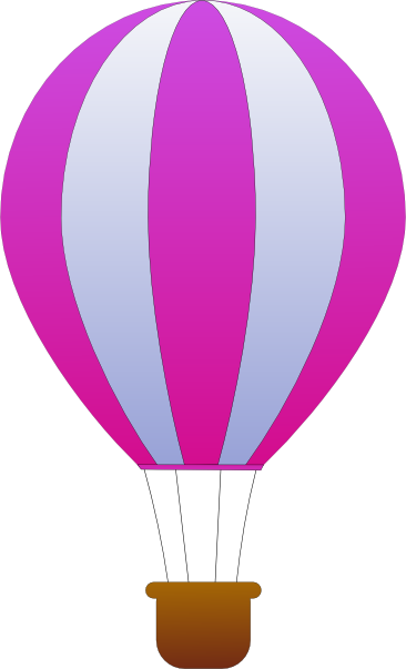 366x603 Maidis Vertical Striped Hot Air Balloons Clip Art Free Vector