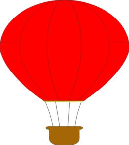 264x298 Red Hot Air Balloon Clip Art