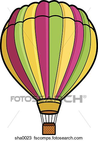 327x470 Drawing Of Hot Air Balloon Sha0023