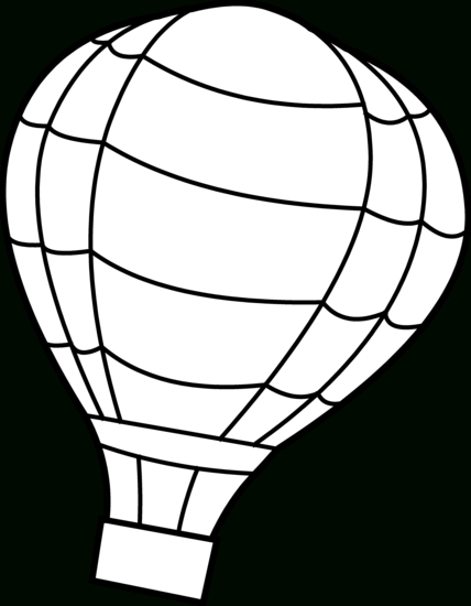 428x550 Hot Air Balloon Clip Art Outline Clipart Panda