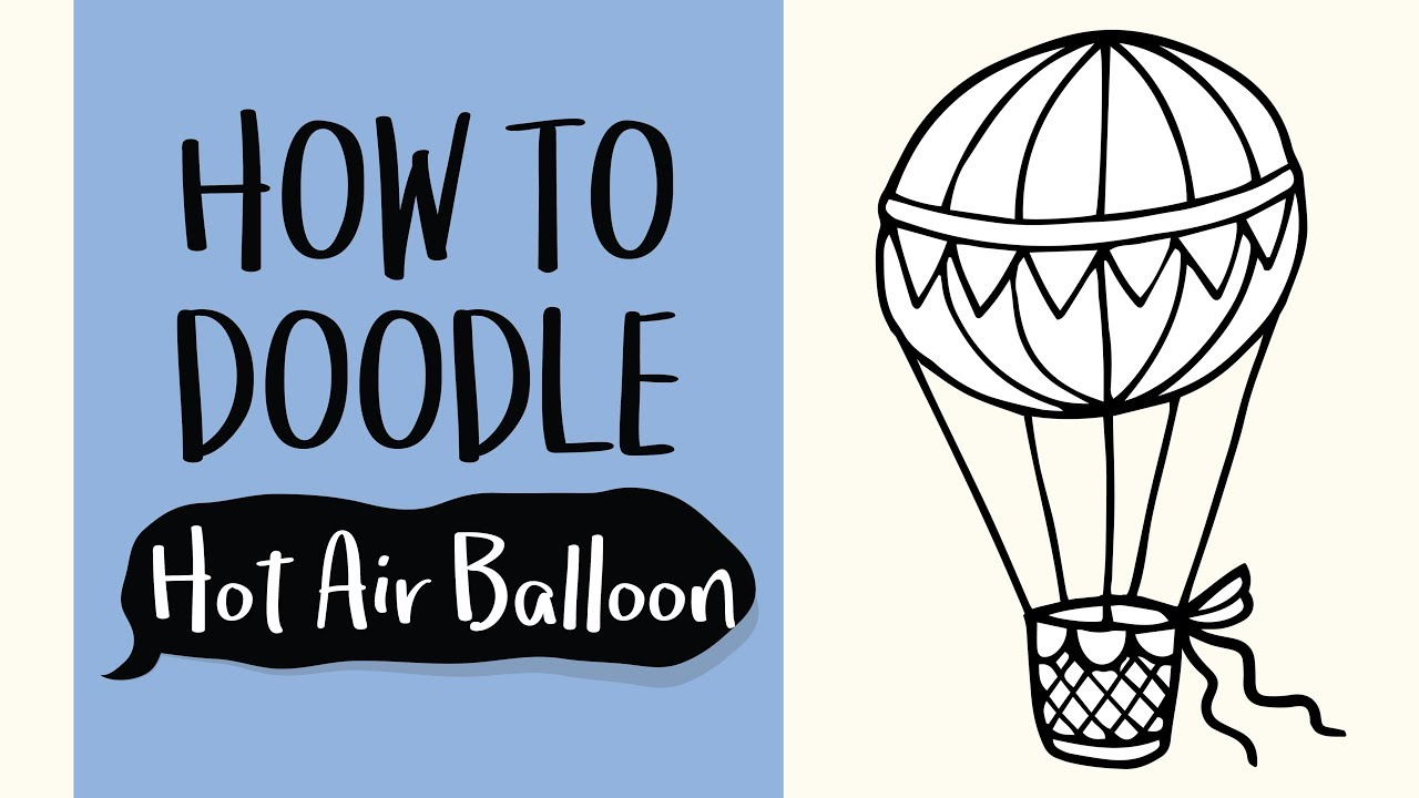 1280x720 How To Draw A Hot Air Ballon (Easy Step By Step Drawing
