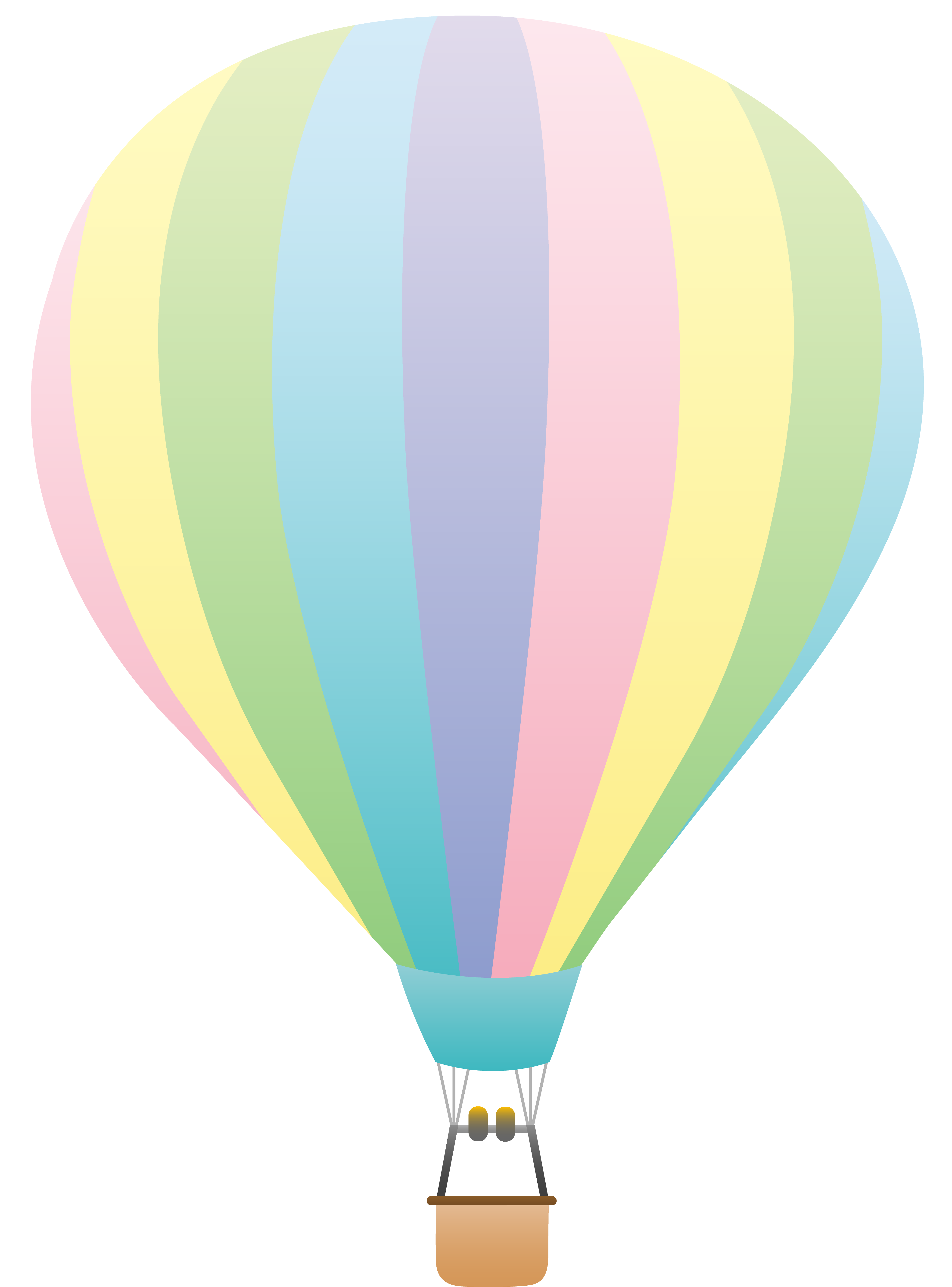 4114x5559 Striped Pastel Colored Hot Air Balloon