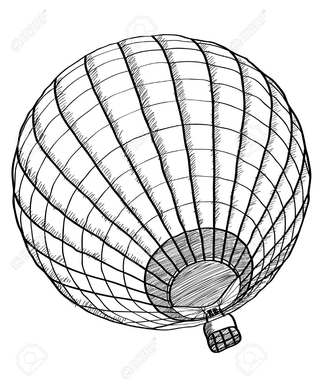 1083x1300 Doodle Of Hot Air Balloon Vector Sketch Up Line, Eps 10 Royalty