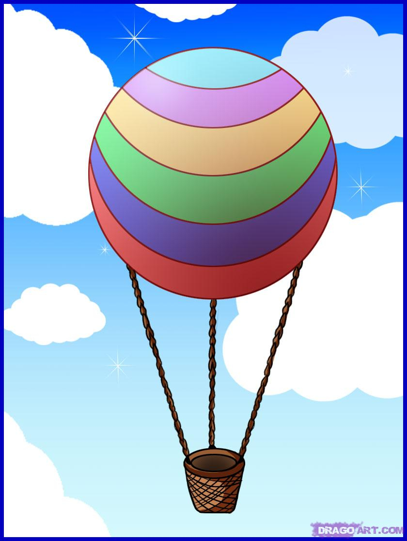 840x1116 Drawing Of A Hot Air Balloon How To Draw A Hot Air Balloon