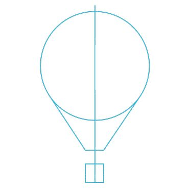 Hot Air Balloon Drawing Template
