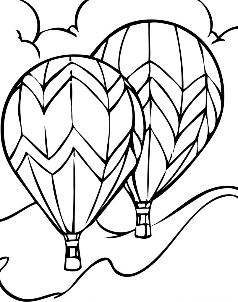 805x1020 Coloring Pages Kids Balloon Coloring Pages Printable Home