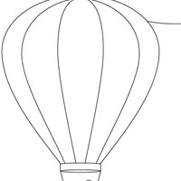 Hot Air Balloon Drawing Template Free Download Best Hot