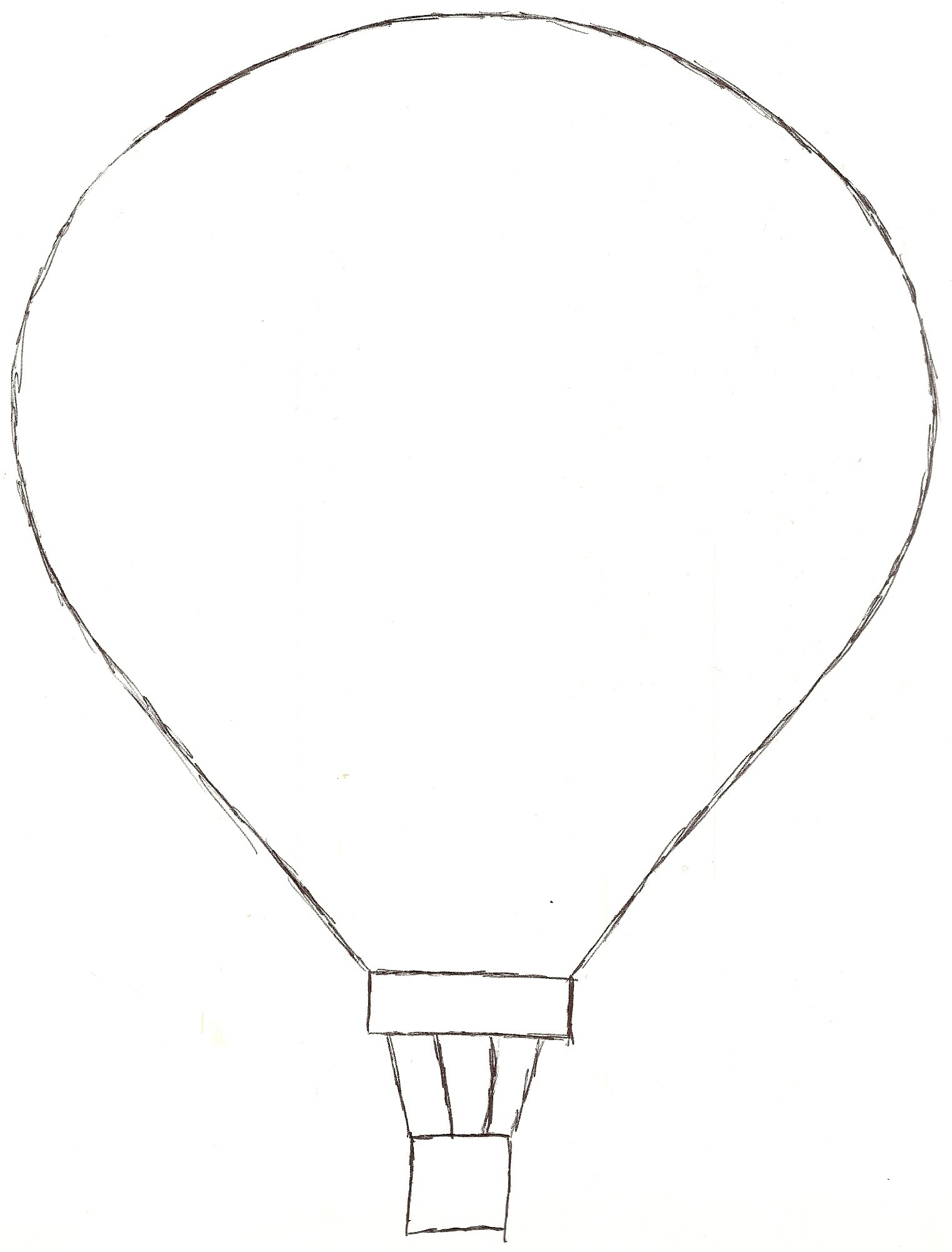 Hot Air Balloon Drawing Template | Free download best Hot ...