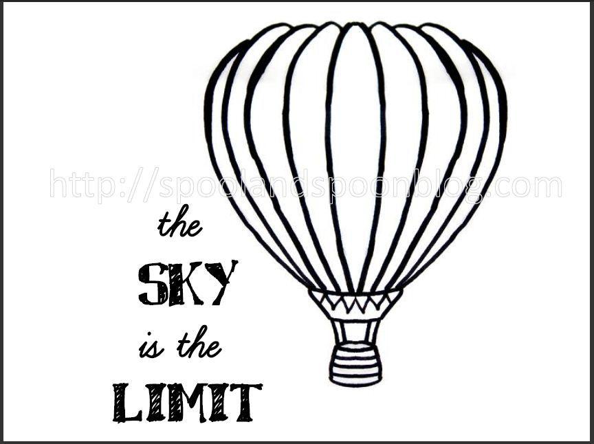 Hot Air Balloon Drawing Template