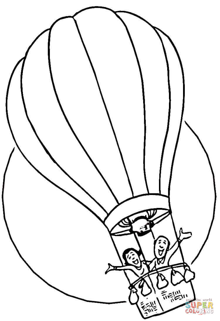 750x1093 Hot Air Balloon Coloring Page Free Printable Pages