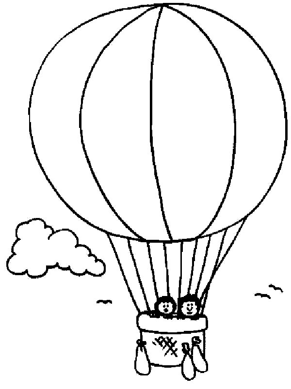 600x803 Printable Hot Air Balloon Coloring Pages For Kids