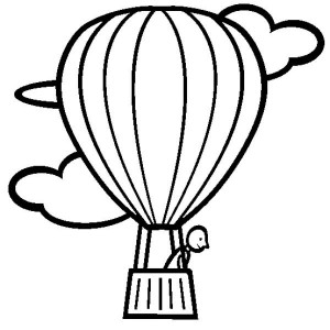 300x300 Animal Adventure On Hot Air Balloon Coloring Pages Bulk Color