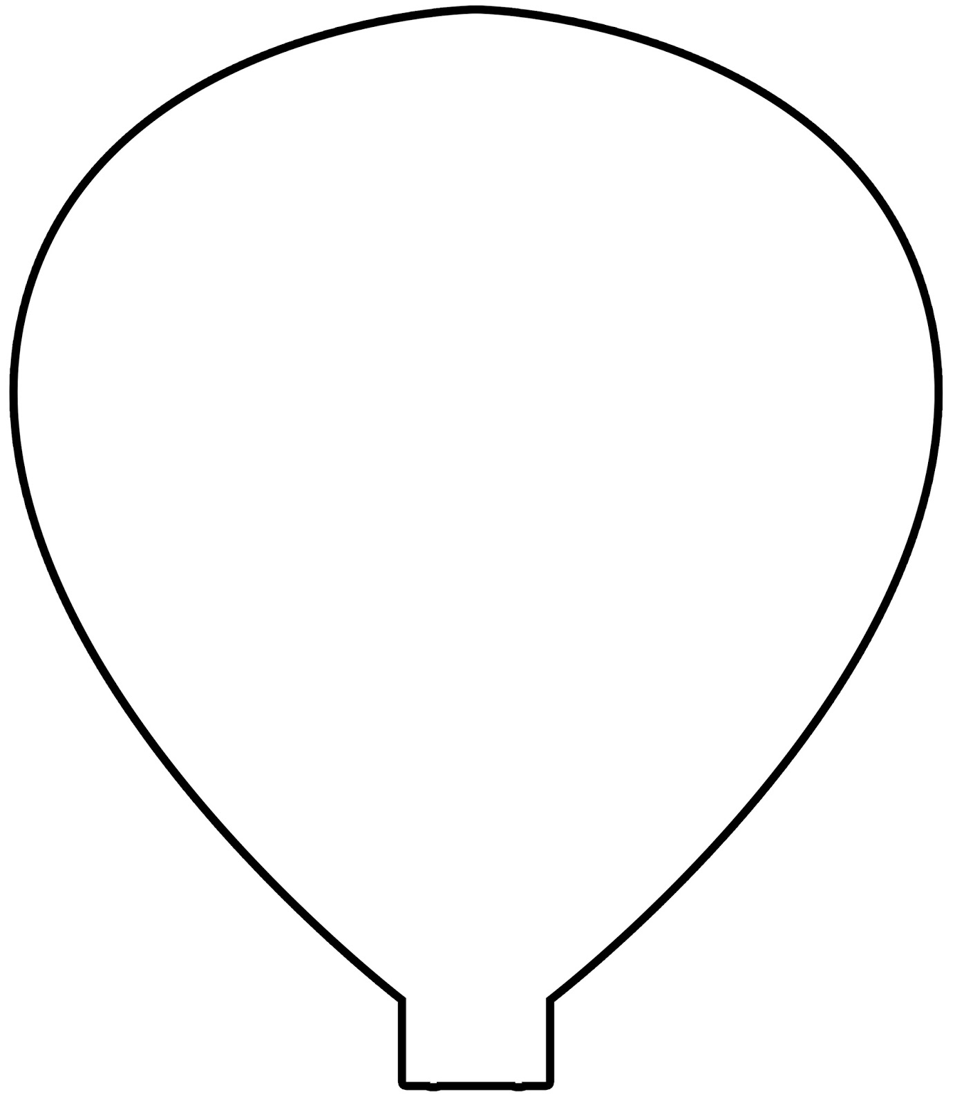 Hot Air Balloon Outline