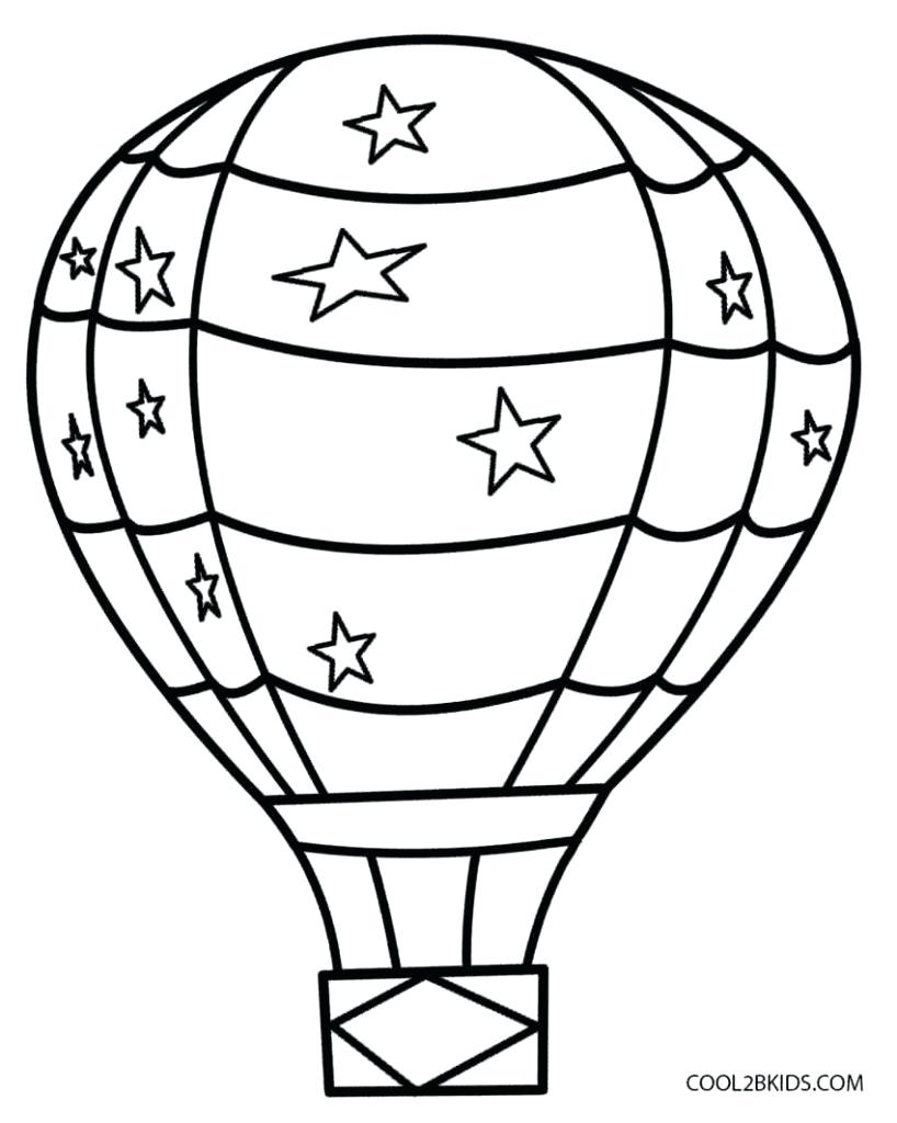 818x1024 Coloring Pages Terrific Hot Air Balloon Outline. Hot Air Balloon