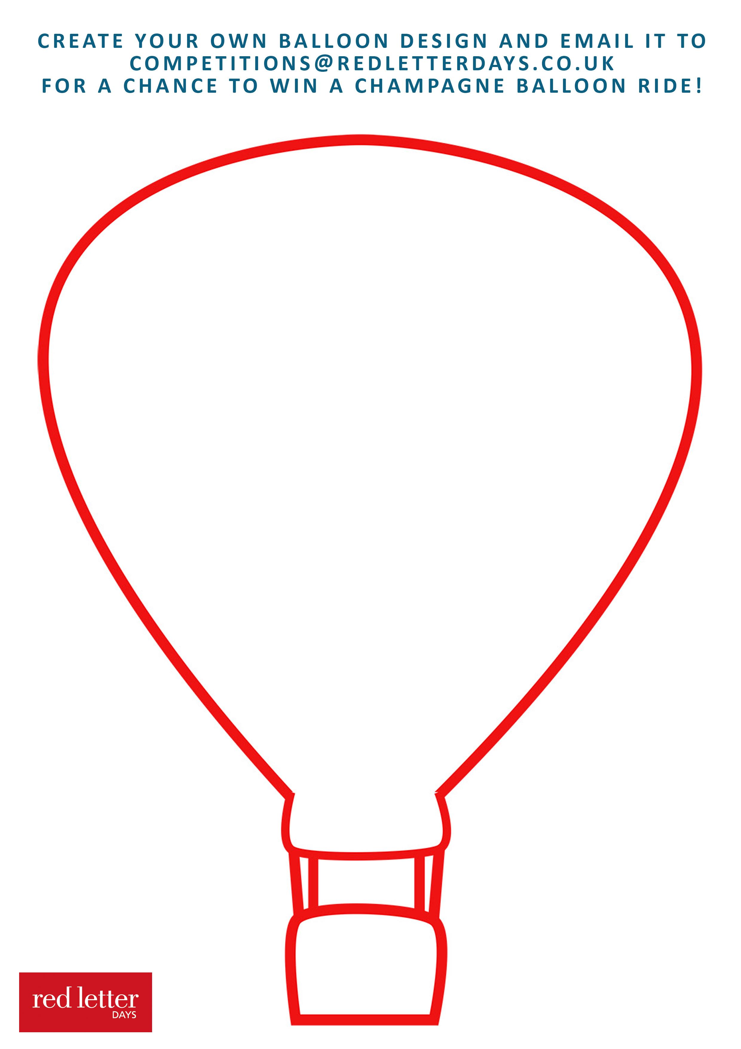 2480x3508 Drawn Hot Air Balloon Blank