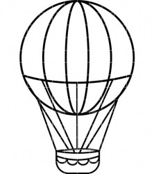 222x250 Hot Air Balloon Clip Art Outline Clipart Panda