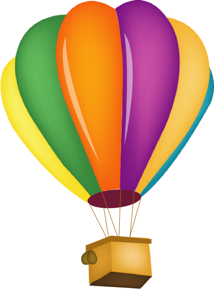 438x592 Hot Air Balloon Clipart