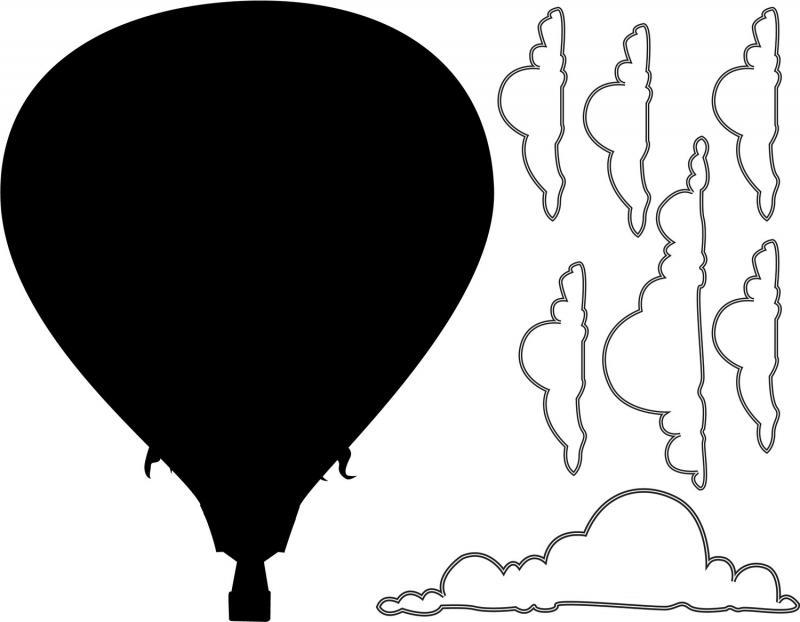 800x622 Hot Air Balloon Outline