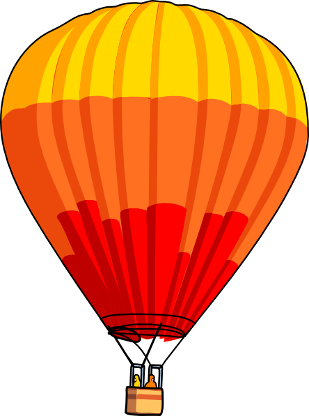 444x597 Hot Air Balloon Clip Art Free Vector 4vector