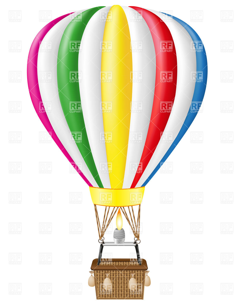 960x1200 Hot Air Balloon Royalty Free Vector Clip Art Image