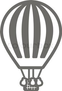 218x320 Hot Air Balloon Vector Illustration Stock Vector Colourbox