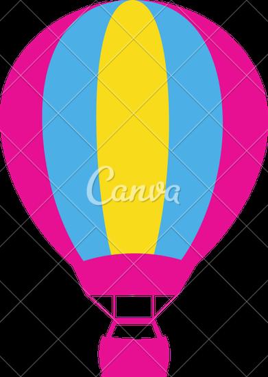 391x550 Retro Cartoon Hot Air Balloon