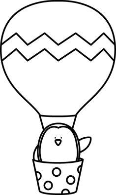 236x395 Hot Air Balloon Black And White Clipart